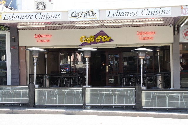 Cafe D'Or Lebanese Restaurant Burwood