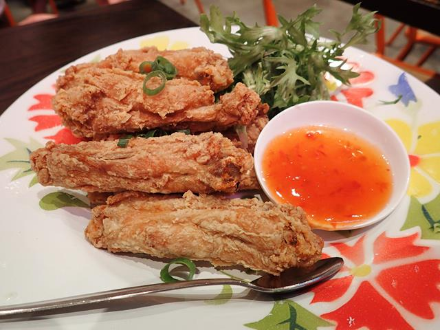 Spicy chicken wings at Thai Riffic On Street Restaurant Parramatta
