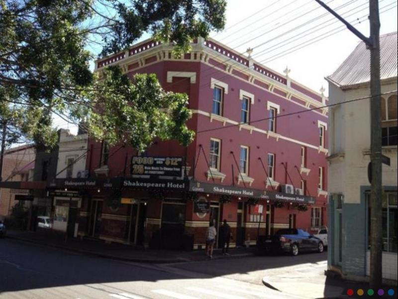Shakespeare Hotel budget Hotel close to Central Station Sydney