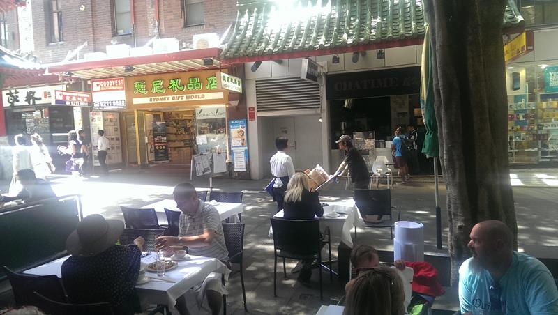 View to Dixon Street from New Tai Yuen Chinese Restaurant Sydney