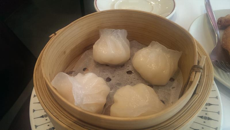 Steamed prawn dumplings yum cha at New Tai Yuen Chinese Restaurant Sydney Chinatown