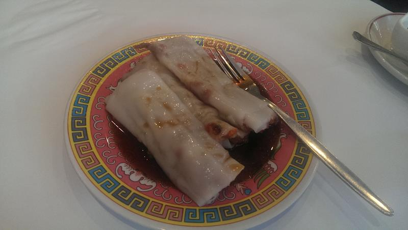 Rice noodles with pork yum cha at New Tai Yuen Chinese Restaurant Sydney Chinatown