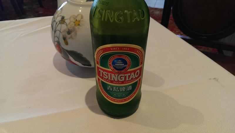 Chinese beer at Pier Nine Chinese Seafood Restaurant King Street Wharf Sydney