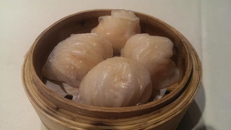 Prawn dumplings at The Eight Modern Chinese Restaurant Sydney Chinatown