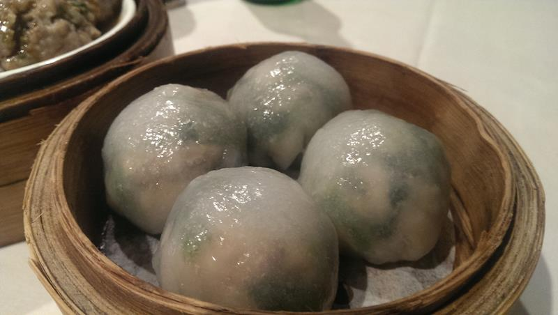 Steamed vegetable dumplings at The Eight Modern Chinese Restaurant Sydney Chinatown